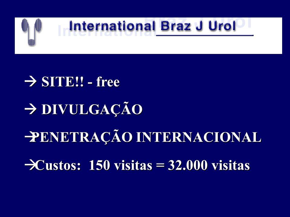  SITE!! - free  DIVULGAÇÃO PENETRAÇÃO INTERNACIONAL Custos: 150 visitas = 32.000 visitas