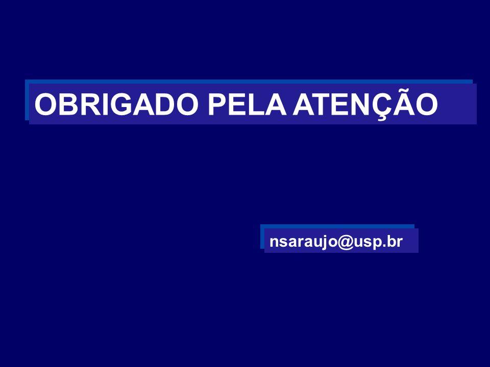 OBRIGADO PELA ATENÇÃO nsaraujo@usp.br