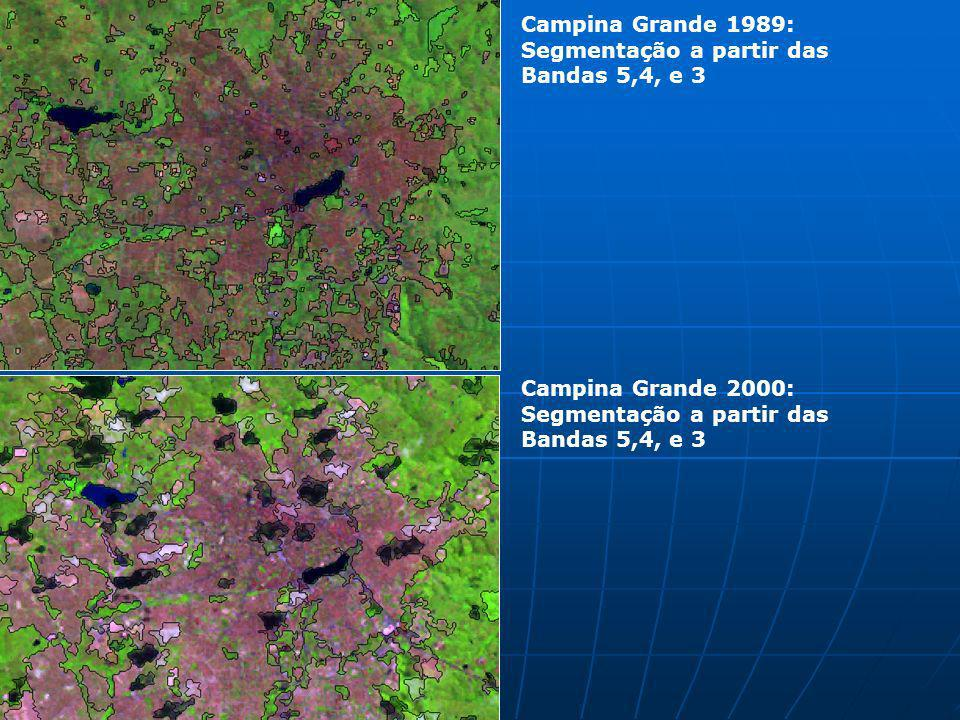 Campina Grande 1989: Segmentação a partir das Bandas 5,4, e 3