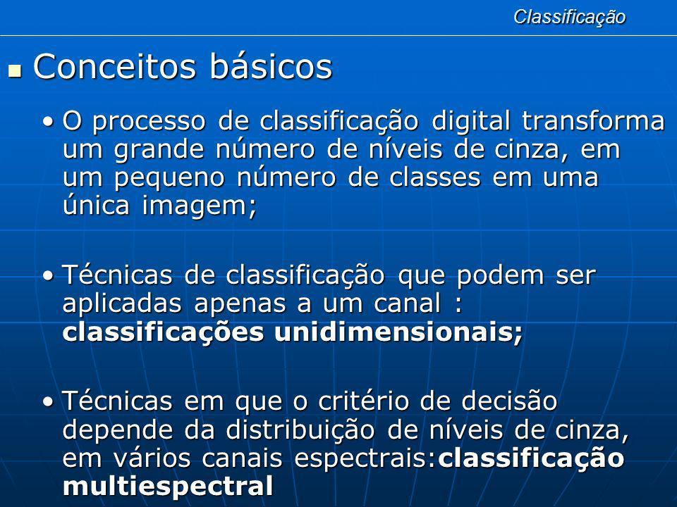 Classificação Conceitos básicos.