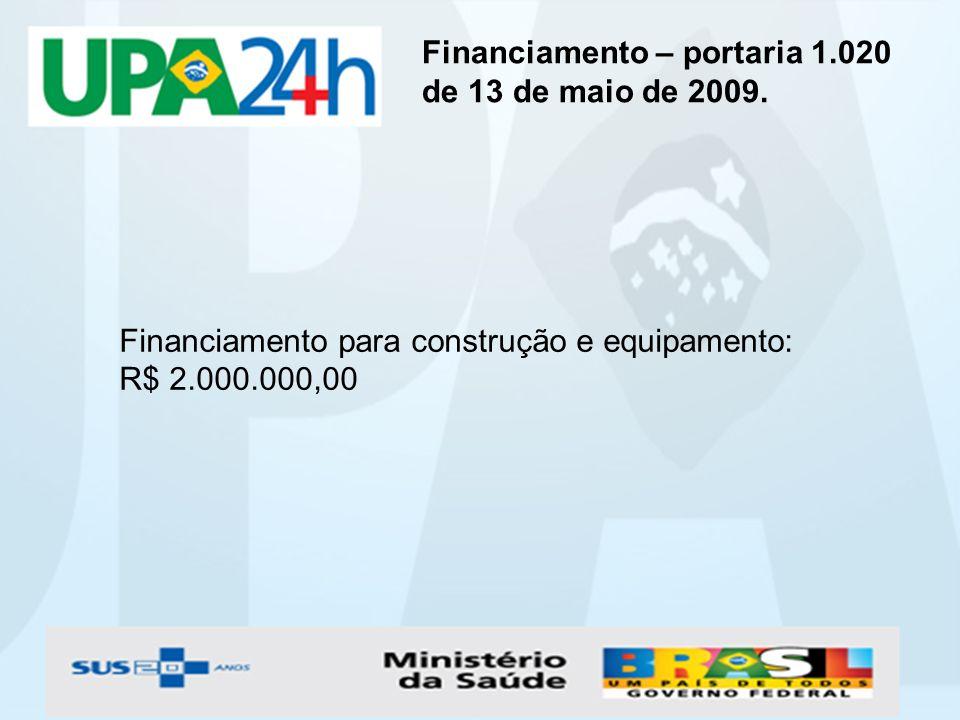 Financiamento – portaria 1.020 de 13 de maio de 2009.