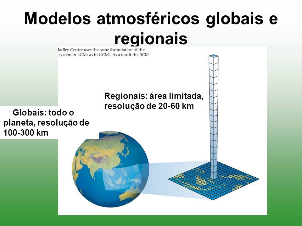 Modelos atmosféricos globais e regionais
