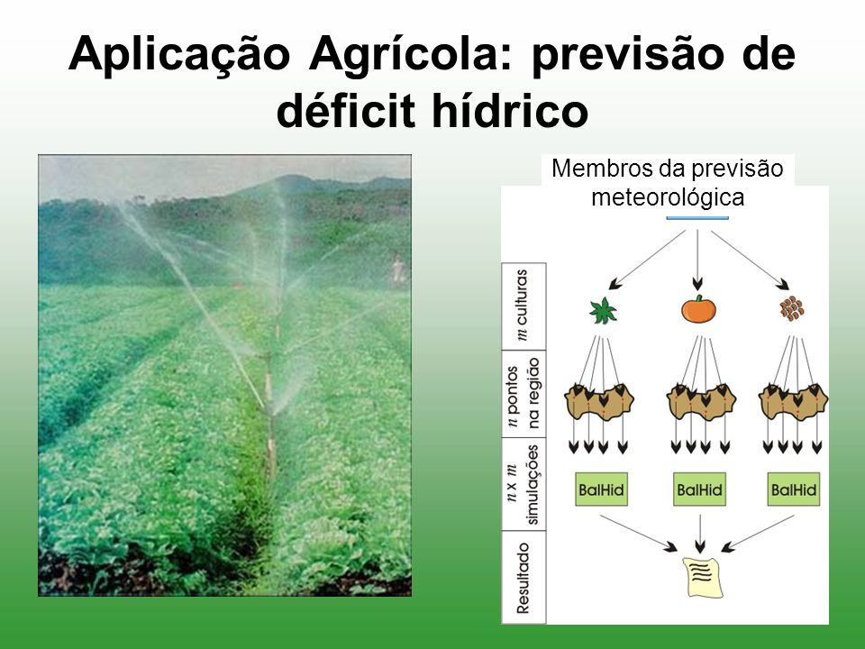 Aplicação Agrícola: previsão de déficit hídrico