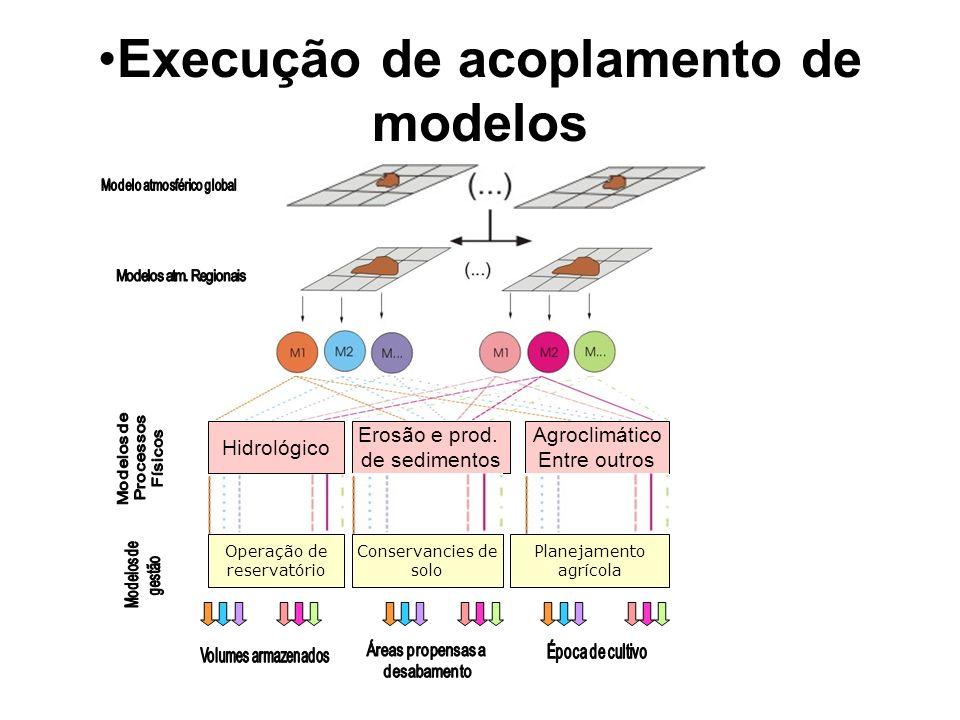 Execução de acoplamento de modelos