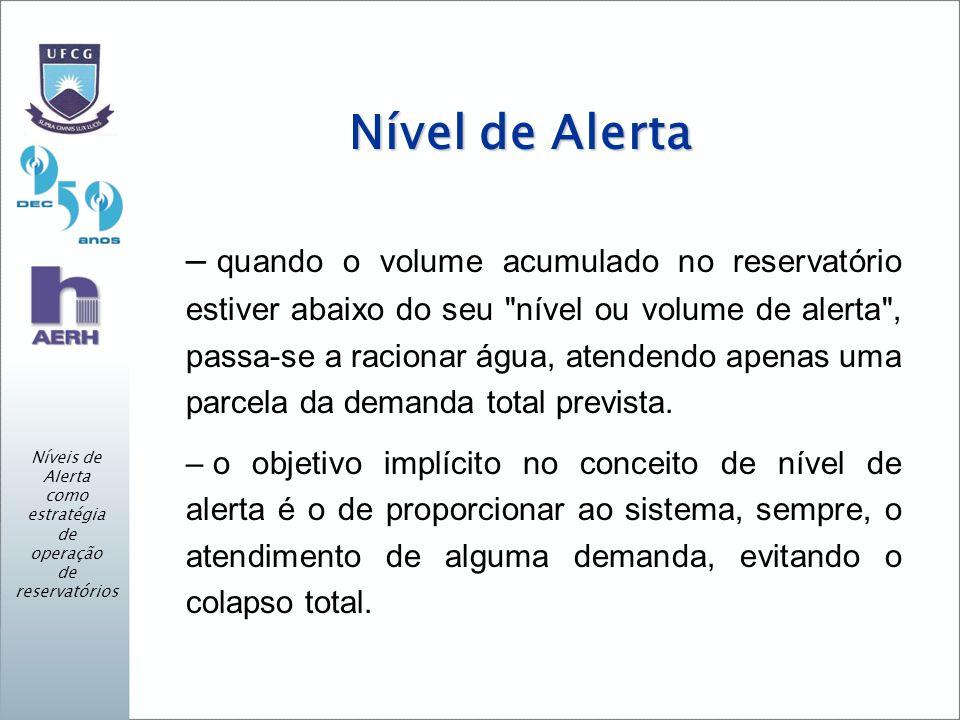 Níveis de Alerta como estratégia de operação de reservatórios