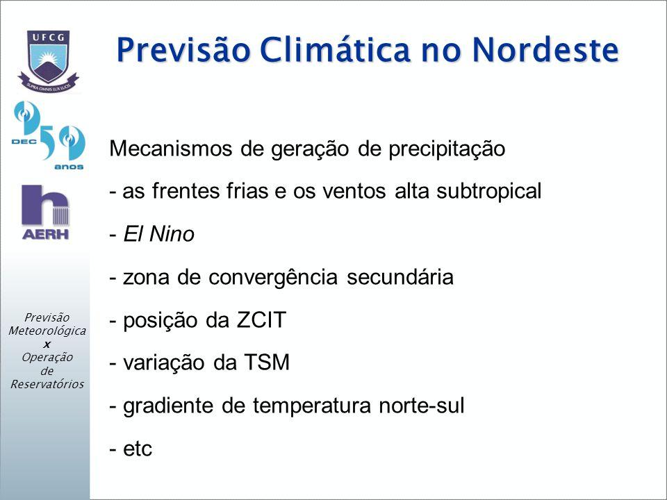 Previsão Climática no Nordeste
