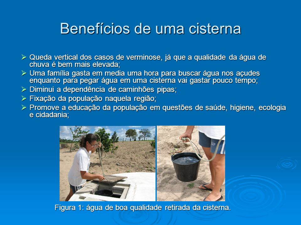 Benefícios de uma cisterna