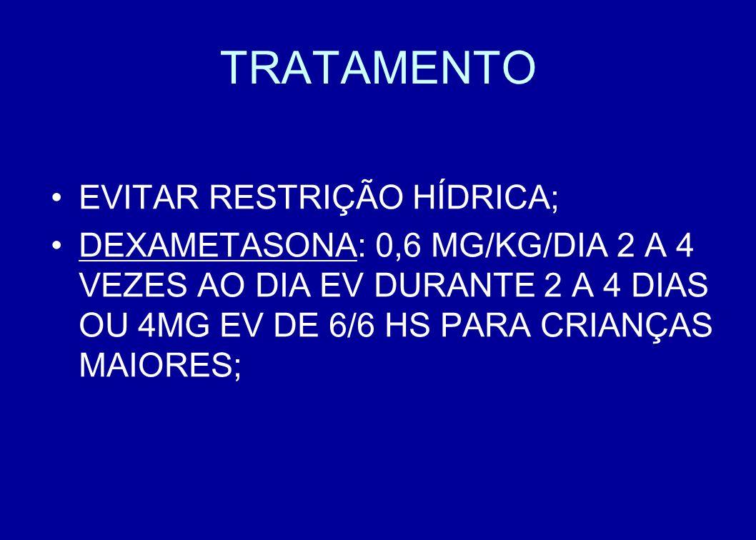 TRATAMENTO EVITAR RESTRIÇÃO HÍDRICA;