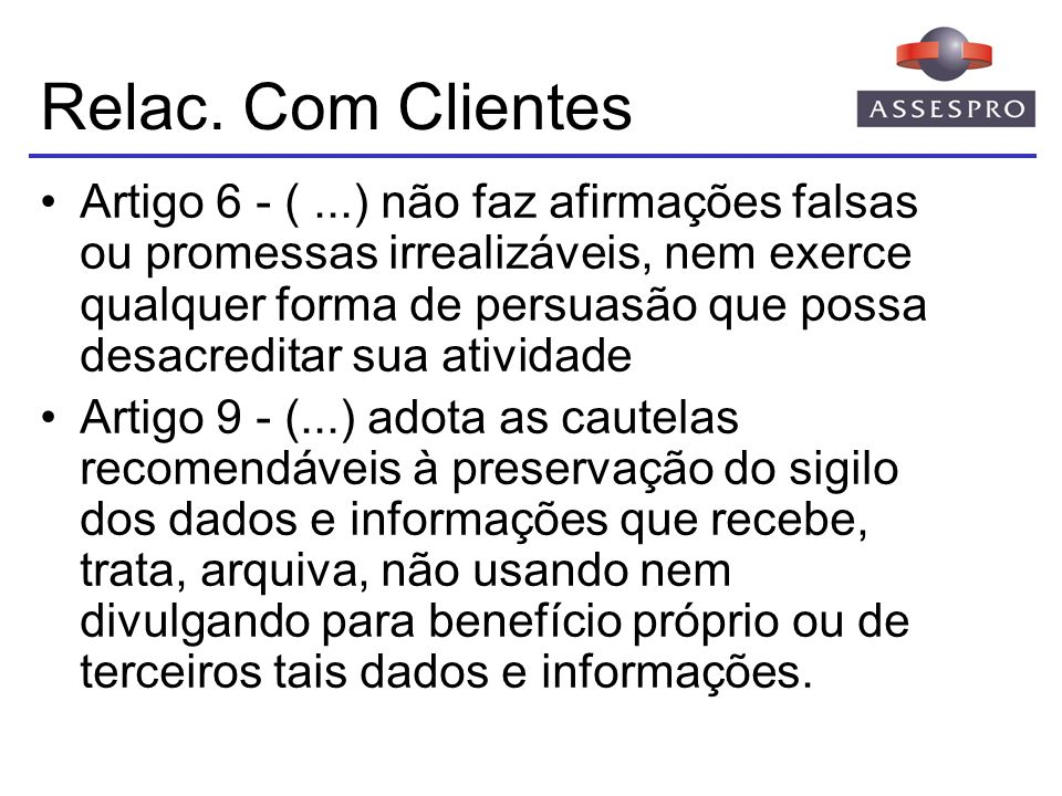 Relac. Com Clientes