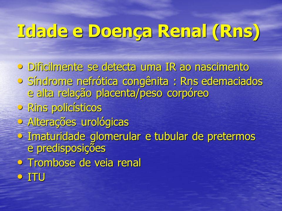 Idade e Doença Renal (Rns)