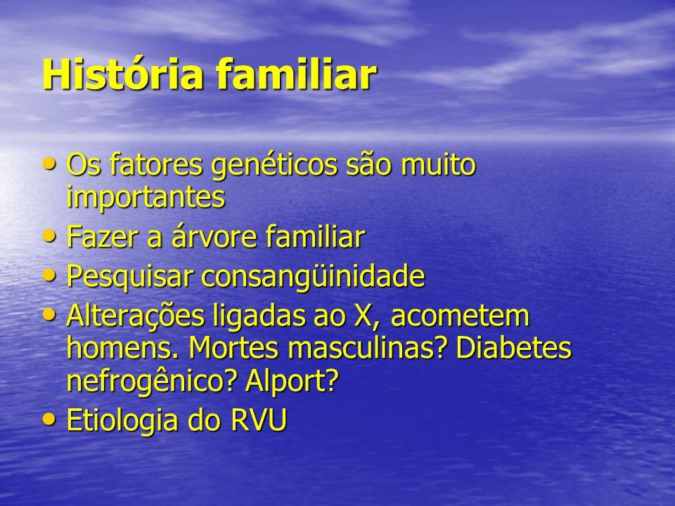 História familiar Os fatores genéticos são muito importantes