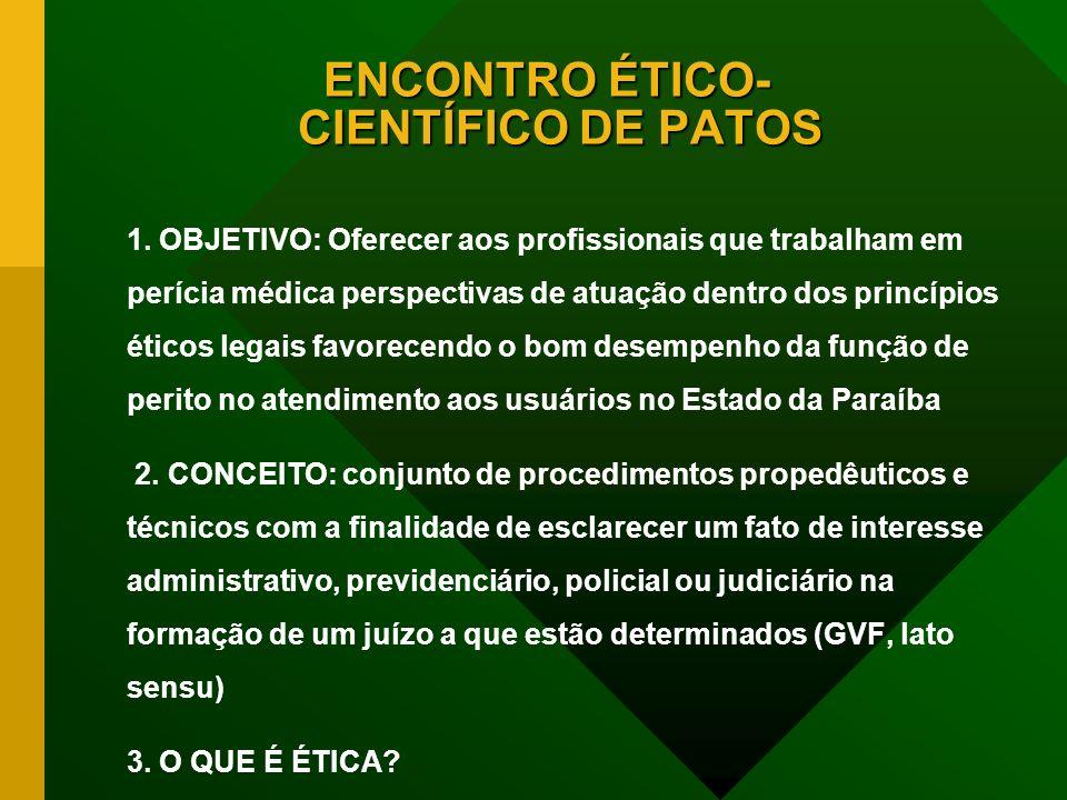 ENCONTRO ÉTICO- CIENTÍFICO DE PATOS