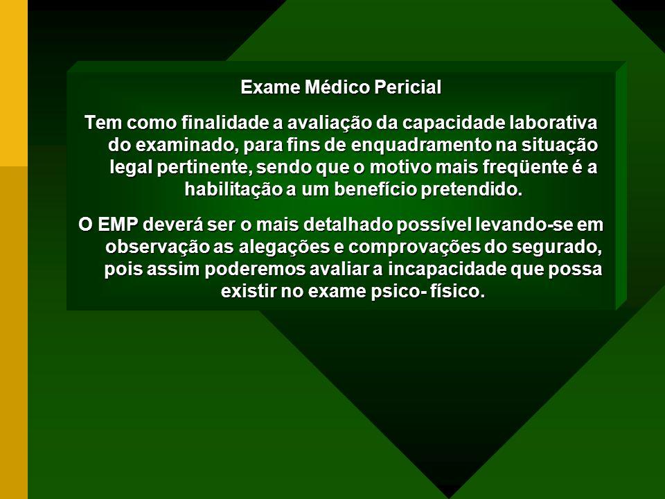 Exame Médico Pericial