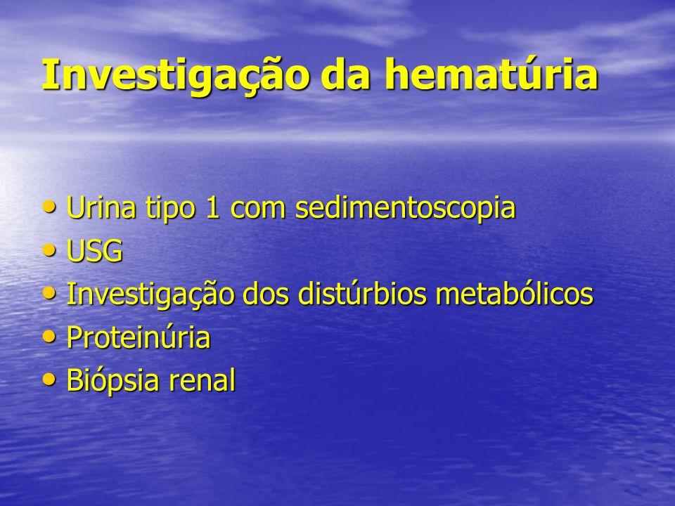 Investigação da hematúria