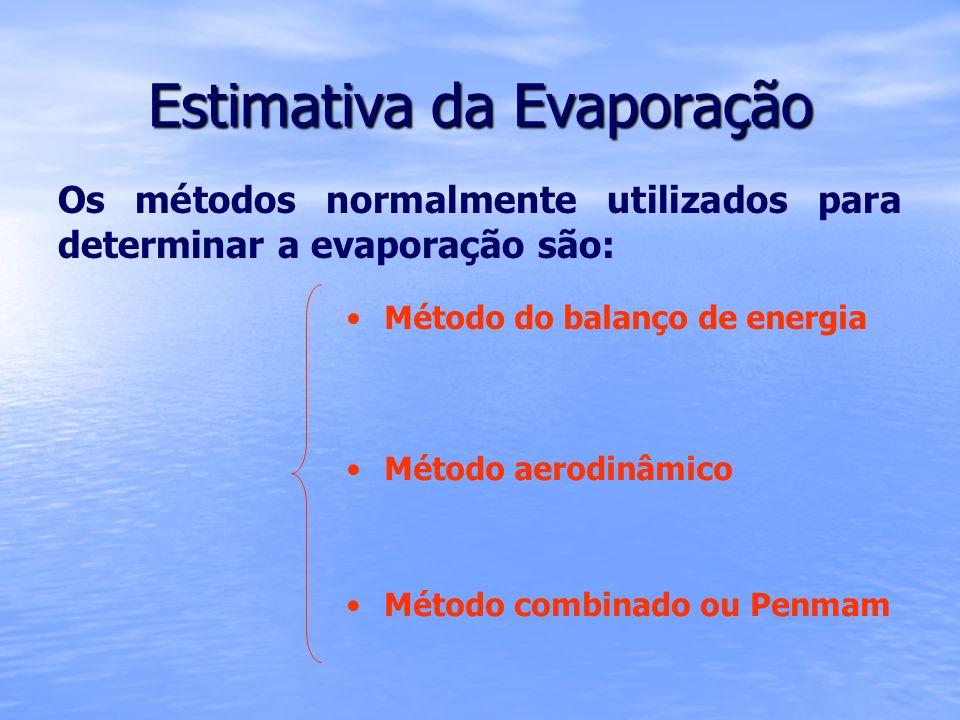 Estimativa da Evaporação