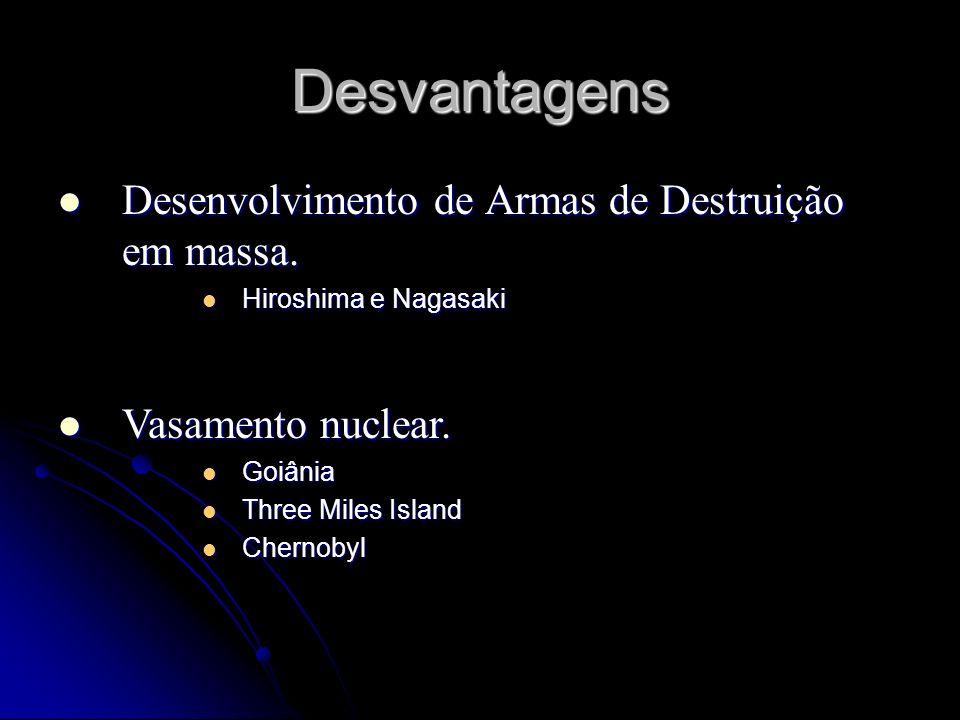 Desvantagens Desenvolvimento de Armas de Destruição em massa.