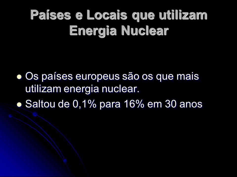 Países e Locais que utilizam Energia Nuclear