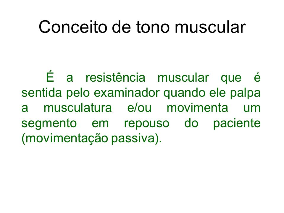 Conceito de tono muscular