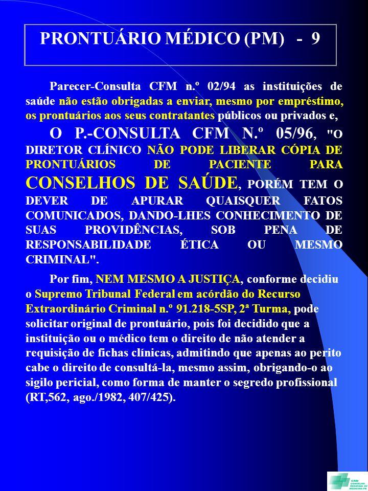 PRONTUÁRIO MÉDICO (PM) - 9