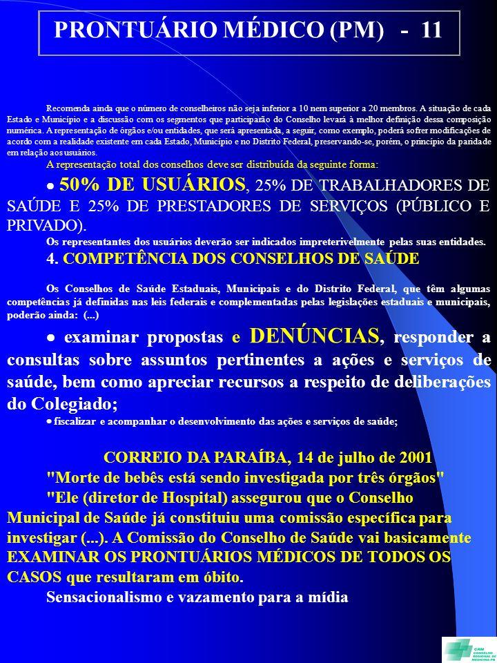 PRONTUÁRIO MÉDICO (PM) - 11
