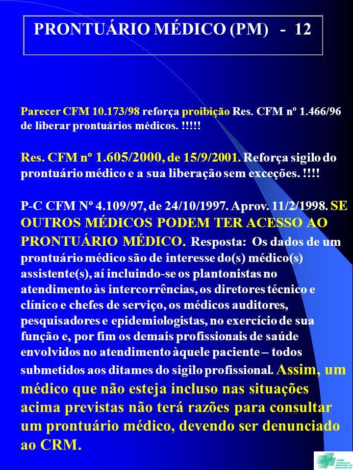 PRONTUÁRIO MÉDICO (PM) - 12