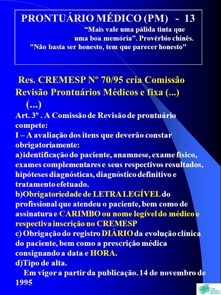 PRONTUÁRIO MÉDICO (PM) - 13