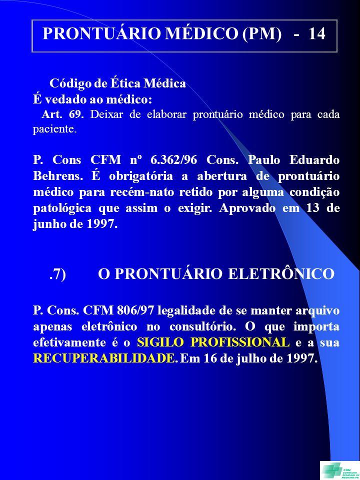 PRONTUÁRIO MÉDICO (PM) - 14
