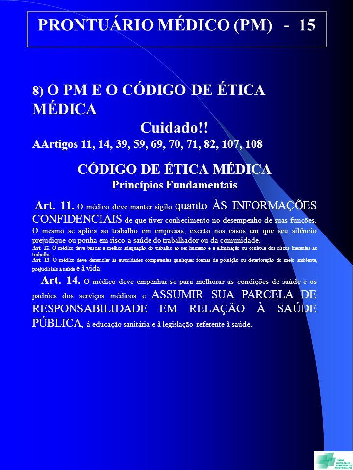 PRONTUÁRIO MÉDICO (PM) - 15