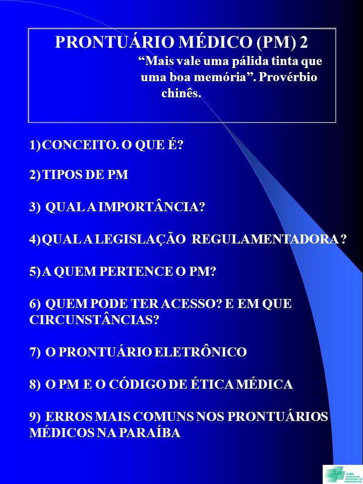 PRONTUÁRIO MÉDICO (PM) 2