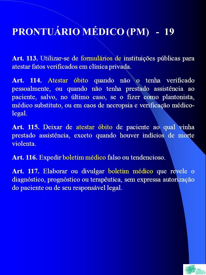PRONTUÁRIO MÉDICO (PM) - 19