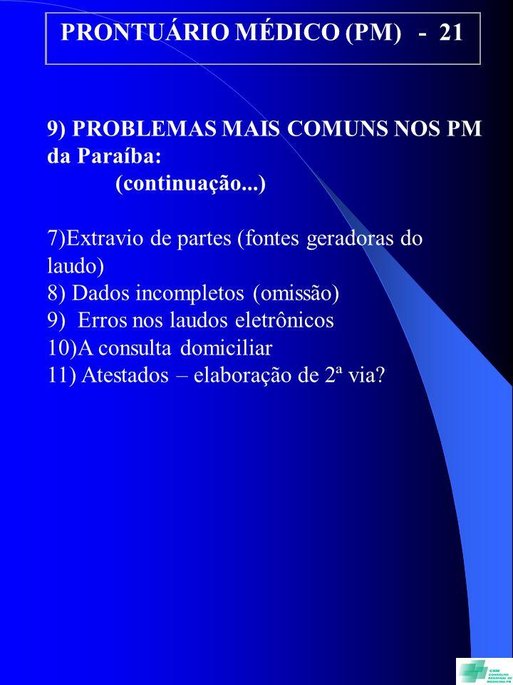 PRONTUÁRIO MÉDICO (PM) - 21