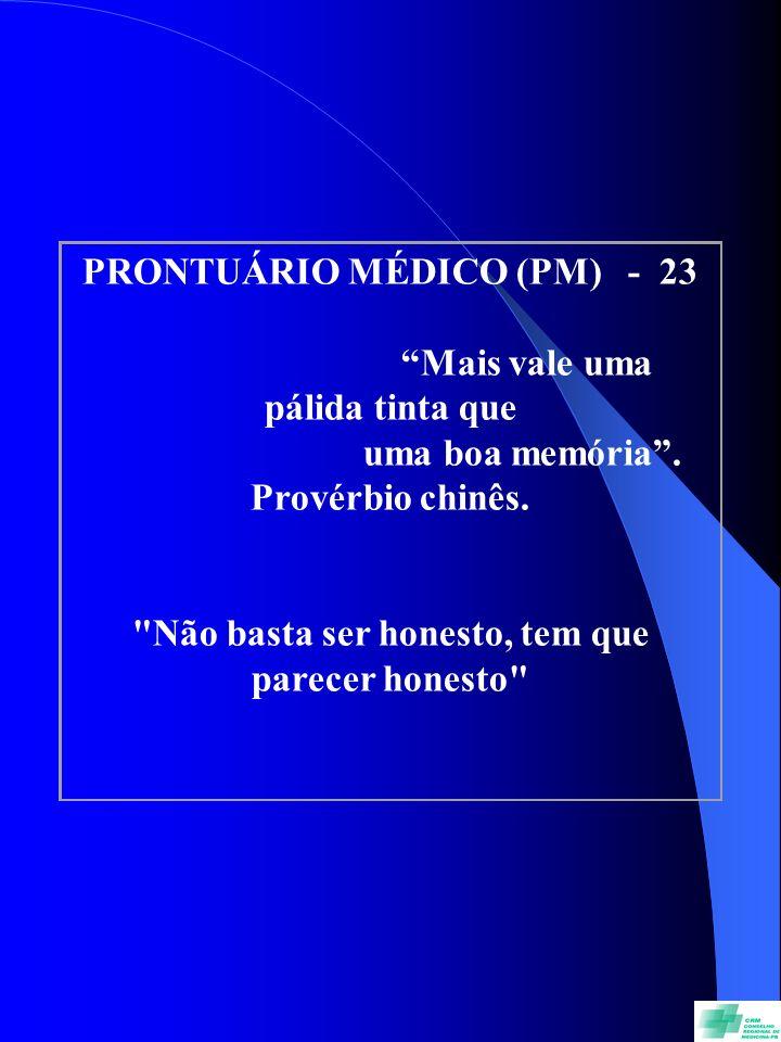 PRONTUÁRIO MÉDICO (PM) - 23 Mais vale uma pálida tinta que