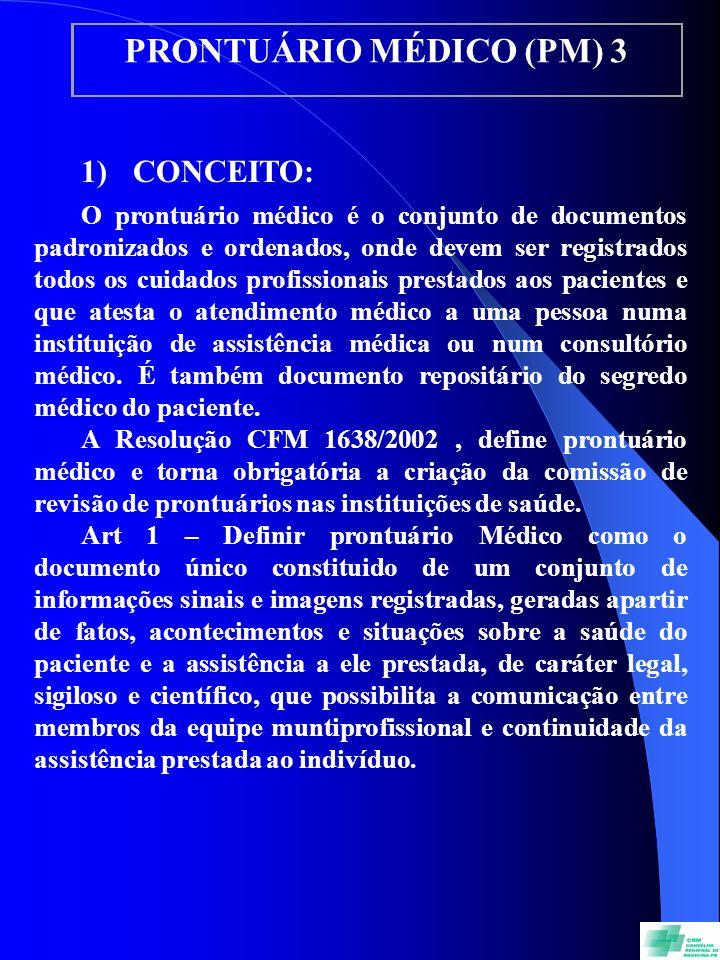 PRONTUÁRIO MÉDICO (PM) 3