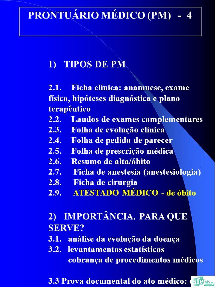 PRONTUÁRIO MÉDICO (PM) - 4