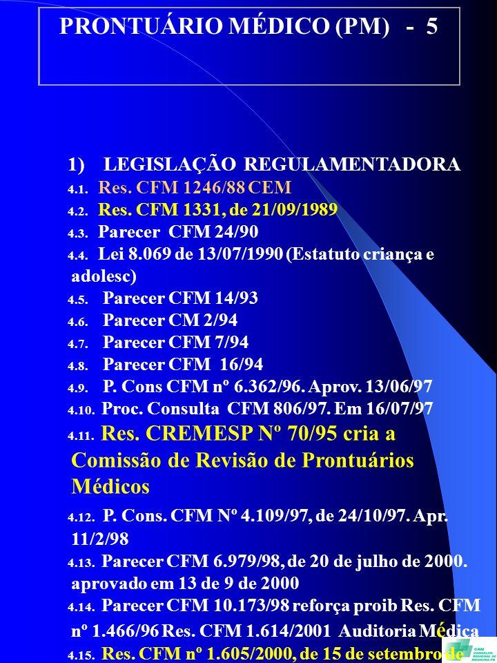 PRONTUÁRIO MÉDICO (PM) - 5