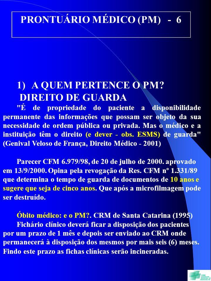 PRONTUÁRIO MÉDICO (PM) - 6