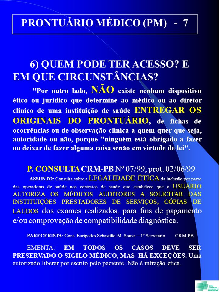PRONTUÁRIO MÉDICO (PM) - 7