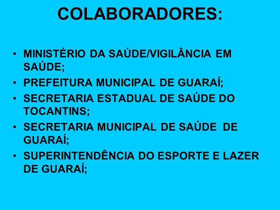 COLABORADORES: MINISTÉRIO DA SAÚDE/VIGILÂNCIA EM SAÚDE;