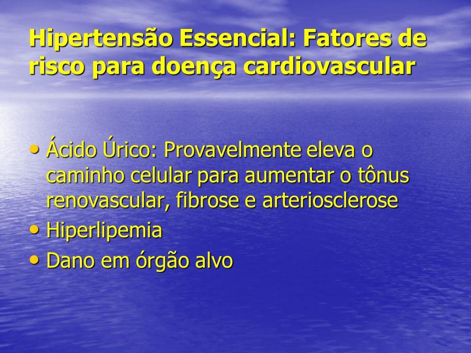 Hipertensão Essencial: Fatores de risco para doença cardiovascular