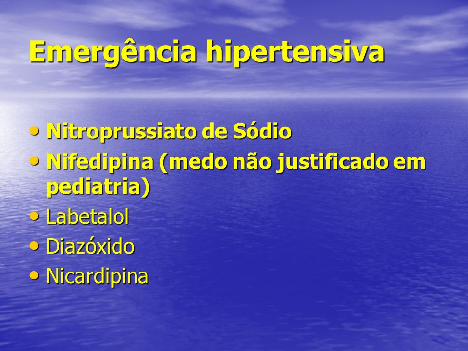 Emergência hipertensiva