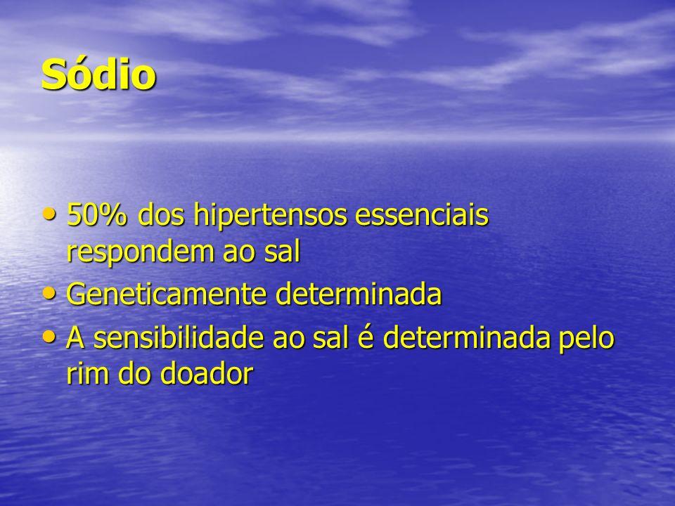 Sódio 50% dos hipertensos essenciais respondem ao sal