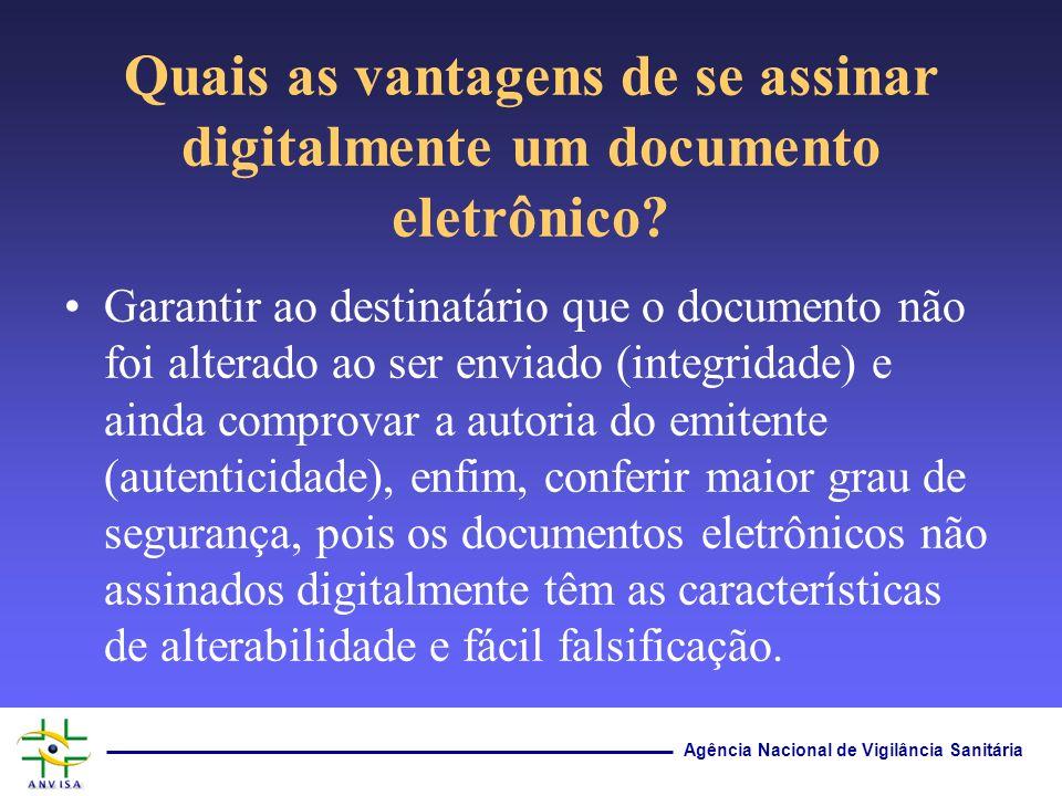 Quais as vantagens de se assinar digitalmente um documento eletrônico