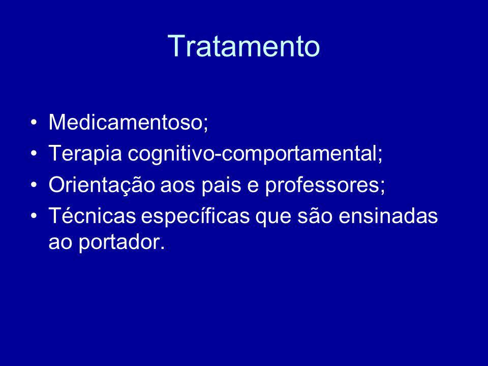 Tratamento Medicamentoso; Terapia cognitivo-comportamental;