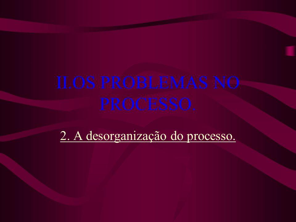 II.OS PROBLEMAS NO PROCESSO.