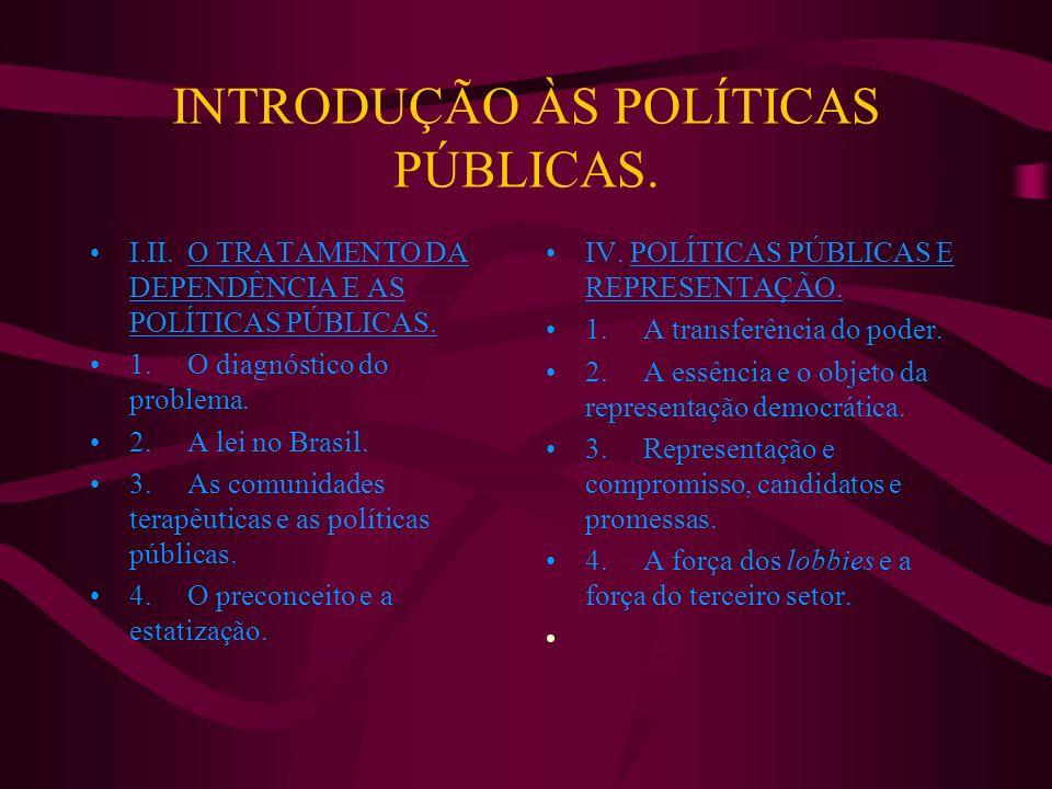 INTRODUÇÃO ÀS POLÍTICAS PÚBLICAS.