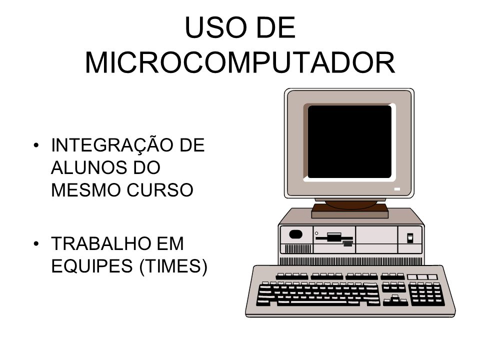 USO DE MICROCOMPUTADOR