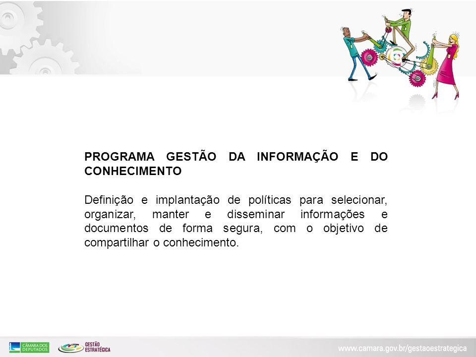 PROGRAMA GESTÃO DA INFORMAÇÃO E DO CONHECIMENTO