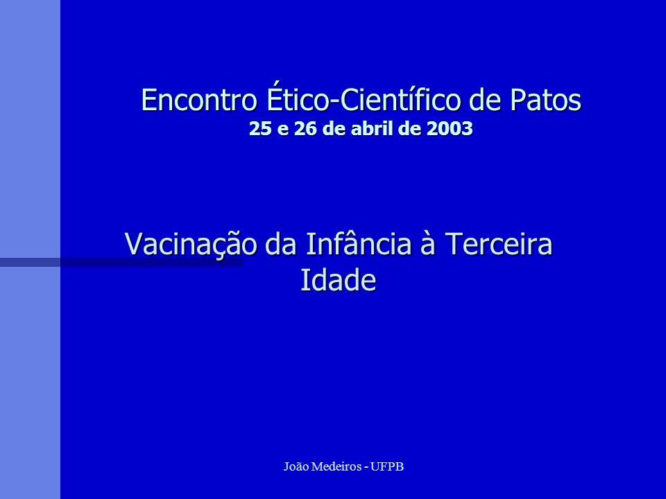 Encontro Ético-Científico de Patos 25 e 26 de abril de 2003