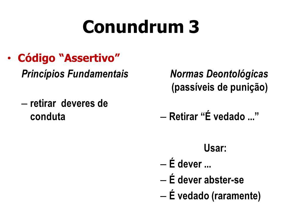 Normas Deontológicas (passíveis de punição)