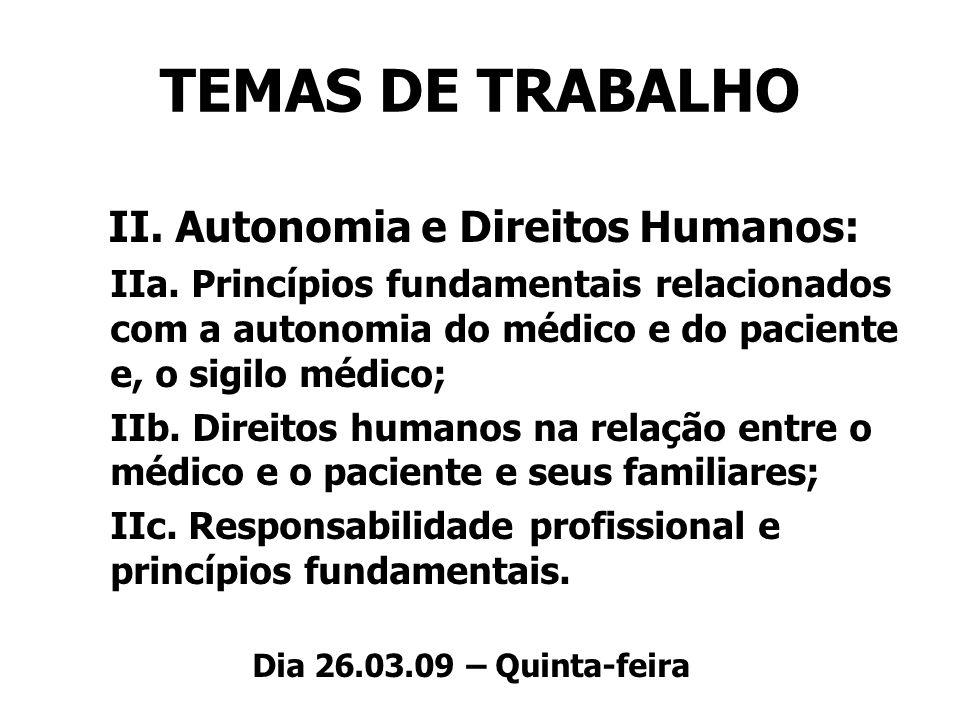 II. Autonomia e Direitos Humanos: